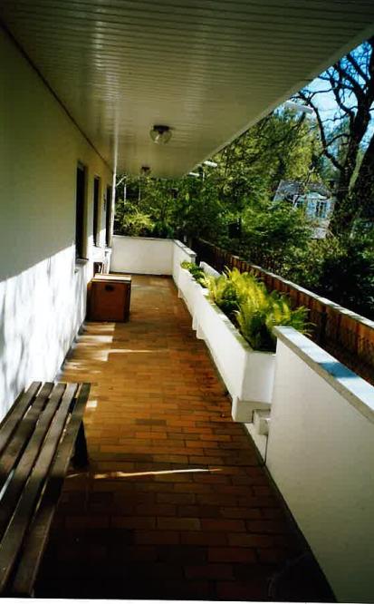 Balkon leer